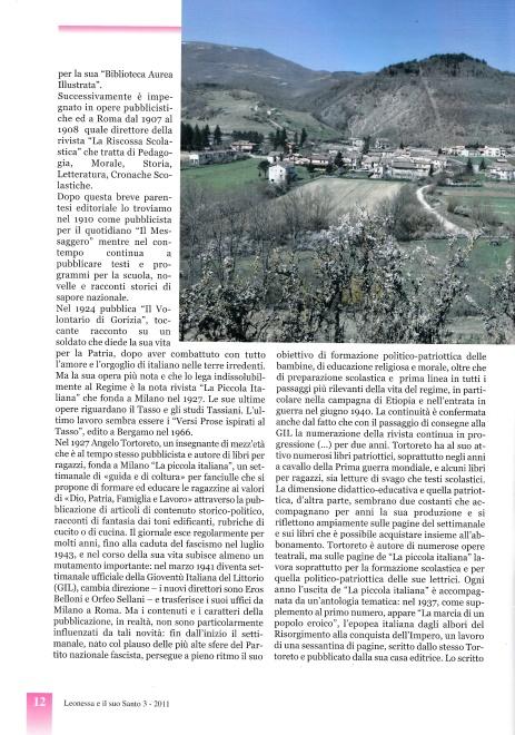 Vannozzi S., Monteleone di Spoleto 2 ottobre 1860. Il Prof. Angelo Tortoreto (…), in «Leonessa e il suo Santo», Anno XLVII, n. 276, maggio-giugno 2011. III