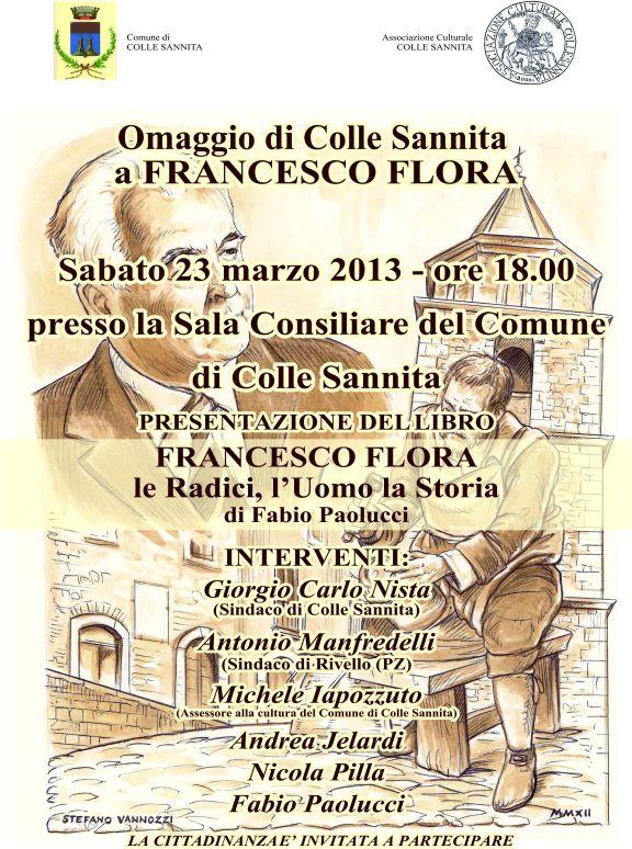 FRANCESCO FLORA Jelardi Paolucci Colle sannita Sannio cultura pubblicazione benevento letteratura
