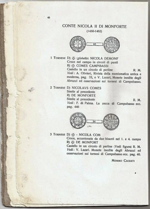 CAMPOBASSO zecca numismatica moneta monforte molise Cagiati CAMPOBASSO zecca numismatica moneta monforte molise Cagiati VII
